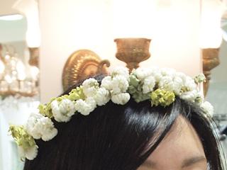 アトリエ染花×CliO mariage(アトリエセンカ×クリオマリアージュ) シロツメクサのウエディング花冠