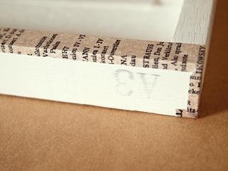 マスキングテープで装飾したウェルカムボード