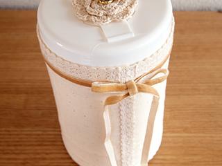 結婚式で使うウェットティッシュのデコレーション