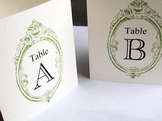 アンティーク風テーブル名札