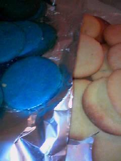 青いクッキー 完成