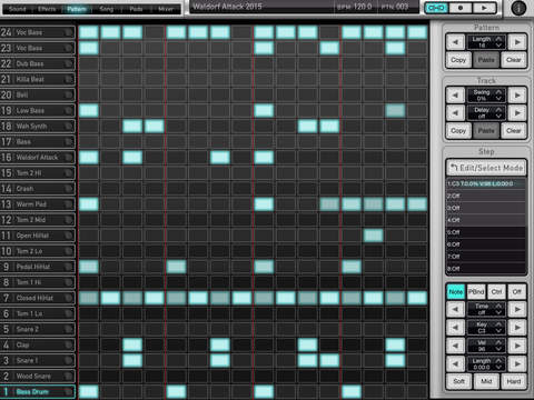 Waldorf Attack Drums for iPad