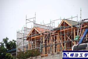 明治工学 新潟初オール電化貸家(住宅)に屋根がつく画像