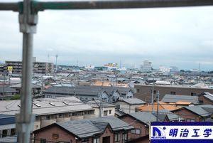 明治工学 新潟市西区貸家 窓から見える黒埼花火