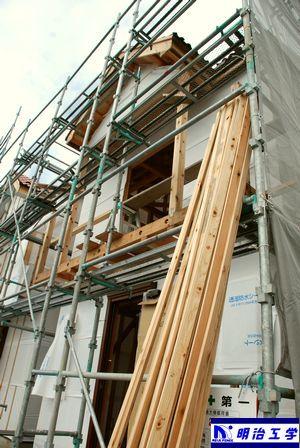 西区ペット同居住宅 新築現場 表からの画像