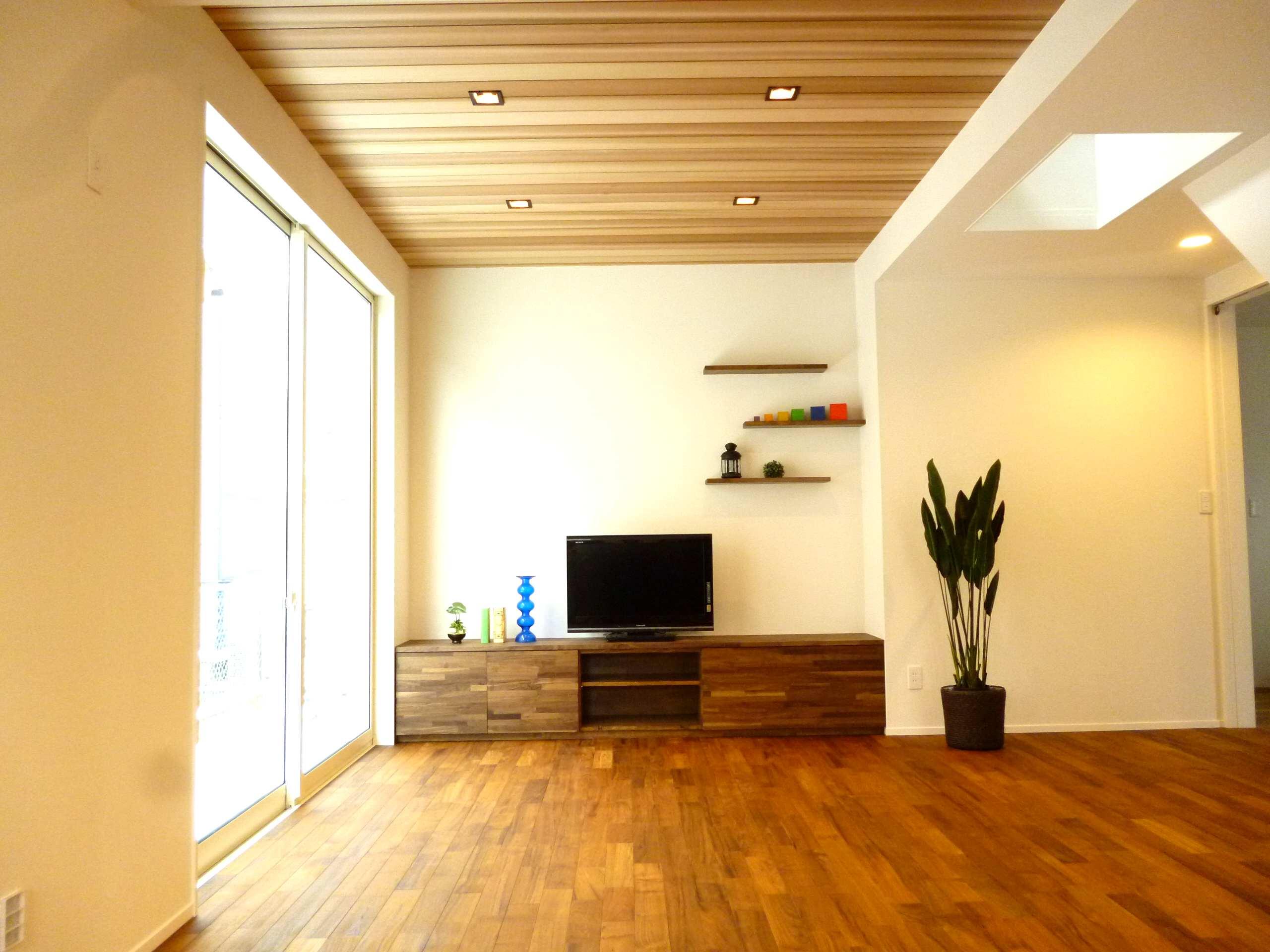 セレクトハウス リビング フローリング床材 無垢チーク材