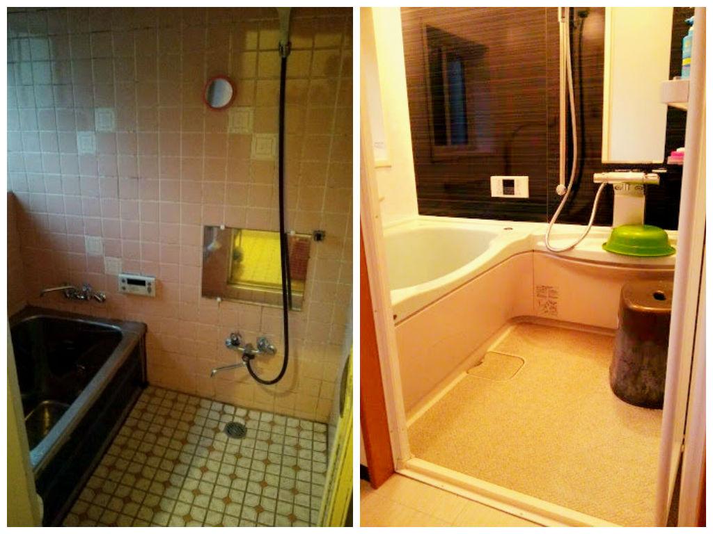 浴室住宅改修 ビフォーアフター画像