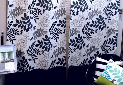 2015年人気のカーテンの柄 ボタニカル