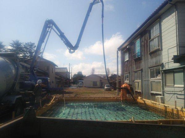 基礎工事 打設工事 セレクトハウス 画像