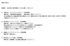 有川志津雄氏、華麗なる経歴を謳うが電話は携帯電話のみ
