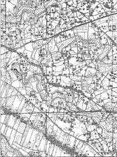 大正期の井荻村 出典:陸地測量部地図