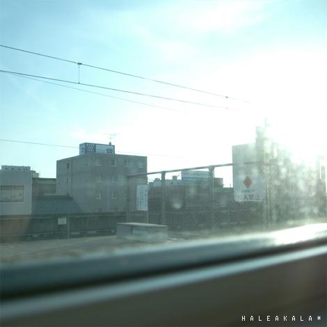 新幹線の車窓から。