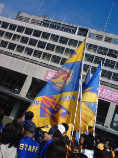 藤井名誉会長のお見送り。at仙台市役所前