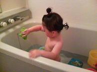 お風呂にて