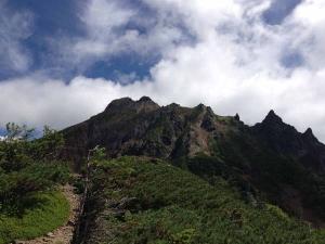 赤岳見上げ
