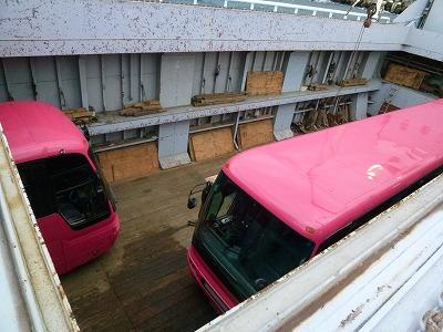 大島バス海上輸送1