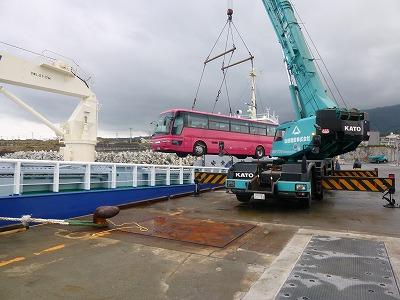 大島バス海上輸送2