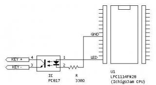 キーボードキーヤーの回路図