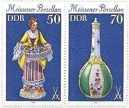 マイセン等の世界の美術工芸品(宝物)の切手