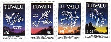 ツバルの星座切手