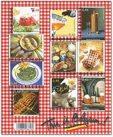 ベルギーのグルメ切手