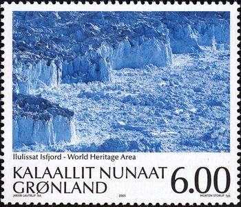 デンマークのイルリサット・フィヨルド氷原