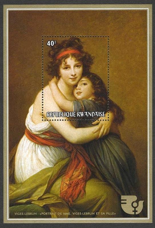 エリザベト・ヴィジェ・ルブランの『ヴィジェ・ルブラン夫人と娘』