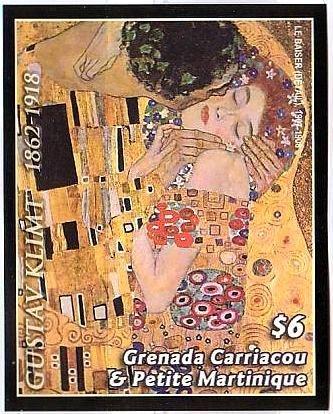グスタフ・クリムト(Gustav Klimt)のKiss(『接吻』1908年)