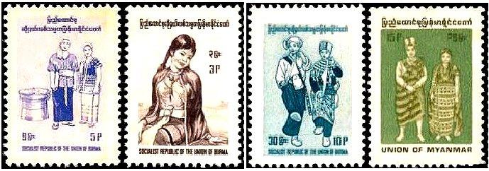 ミャンマー(旧ビルマ連邦)の男女の服装・衣装