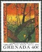 日本趣味・花咲く梅の木(広重による)(1887)ゴッホ美術館