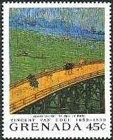 日本趣味・雨の大橋(広重による)(1887)ゴッホ美術館