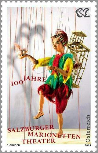 オーストリア・ザルツブルクのマリオネット劇場の切手