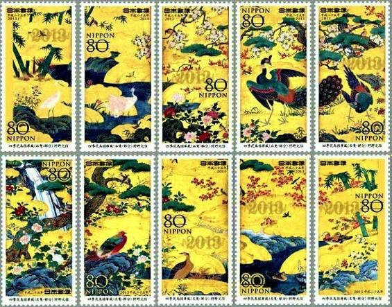 四季花鳥図屏風