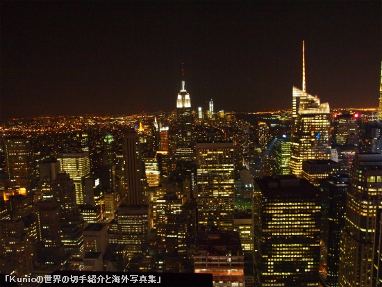 GEビルからのマンハッタンの夜景