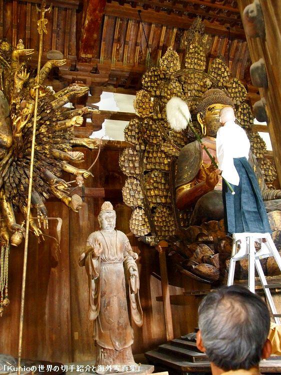 国宝・乾漆盧舎那仏坐像と国宝・帝釈天立像(国宝・金堂安置)