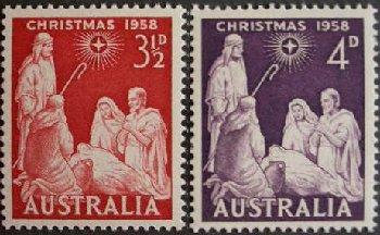 オーストラリアのクリスマス切手(1958年)ベツレヘムの星