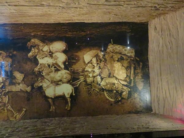 発掘時 銅車馬(安車)
