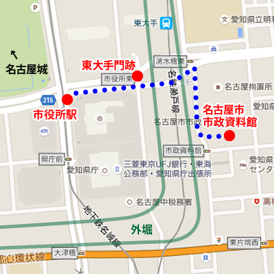 名古屋市市政資料館_マップ