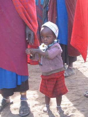 マサイ族の子供