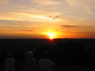アフリカ夕焼け