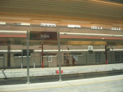 スペイン、irun駅