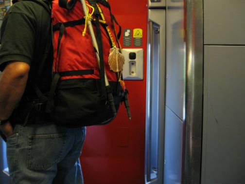フランス国鉄内の巡礼者