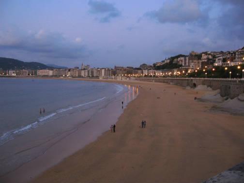 サンセバスチャンのコンチャ海岸