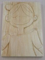 あかね木彫り自画像