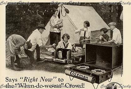1924年当時のキャンプ風景