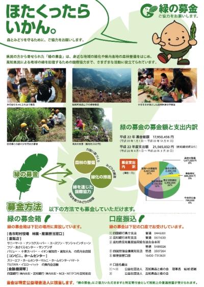 高知県緑の募金チラシ-裏