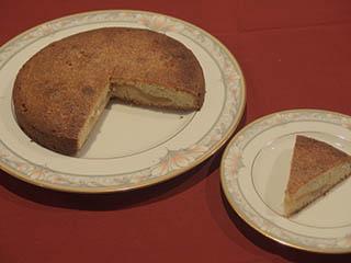 煮りんごのケーキ