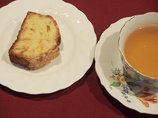 柚子のクランブルケーキ