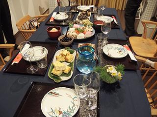 正月のテーブル1801