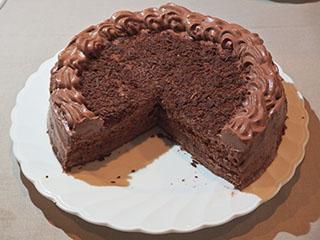 スポンジのチョコレートケーキ1809